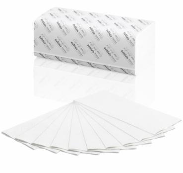 Satino von Wepa prestige Papierhandtücher Zellstoff Tücher, ZZ, 24x23cm, 2-lagig, hochweiß