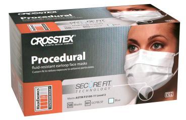 Crosstex Procedural® mit Ohrschlaufen und SecureFit™ Technologie Type IIR