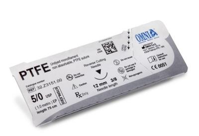 PTFE Nahtmaterial-45cm 4/0, Schwarze Nadel, Taper Cut 16 mm 3/8 kreisförmig Rund