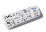 PTFE Nahtmaterial-45cm 5/0, Schwarze Nadel, Taper Cut 13 mm 3/8 kreisförmig Rund
