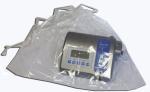 Transparente Tasche cm 67x75 mit Verschlussbändern für Physiodispenser oder Kontrolleinheit