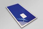 Dekontaminierungsmatte 115x90 cm mit bakterizidem Klebeband - Set zu 30 Blätter - inklusive Unterlage aus transparentem rutschfestem PVC zum Fixieren der Matte