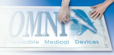 Base Flex Omnia mit Dekontamination Teppich (15 Blatt Demo) cm 50x100 (anpassbare Basis mit Logo)