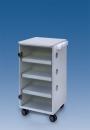 LC Implant Suite mit 3 ausziehbaren Fachböden (Farbe Weiß)