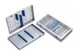 Tray für 10 Instrumente mit abnehmbarem Deckel