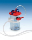 Kanister* für Beutel zur Auffangen von organischen Flüssigkeiten. Jede Verpackung enthält auch 1 Einwegbeutel und die Verbindungen zum Patientenstuhl
